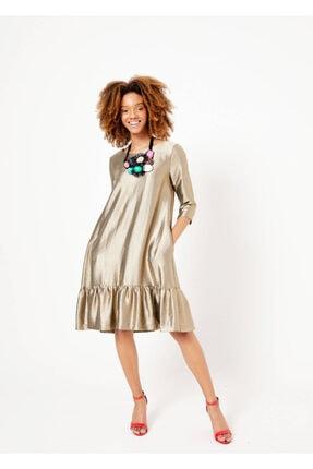 Adze Kadın Vizon Kolyeli Elbise