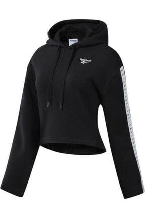 Reebok Kadın Siyah Cl V P Hoodie Sweatshirt