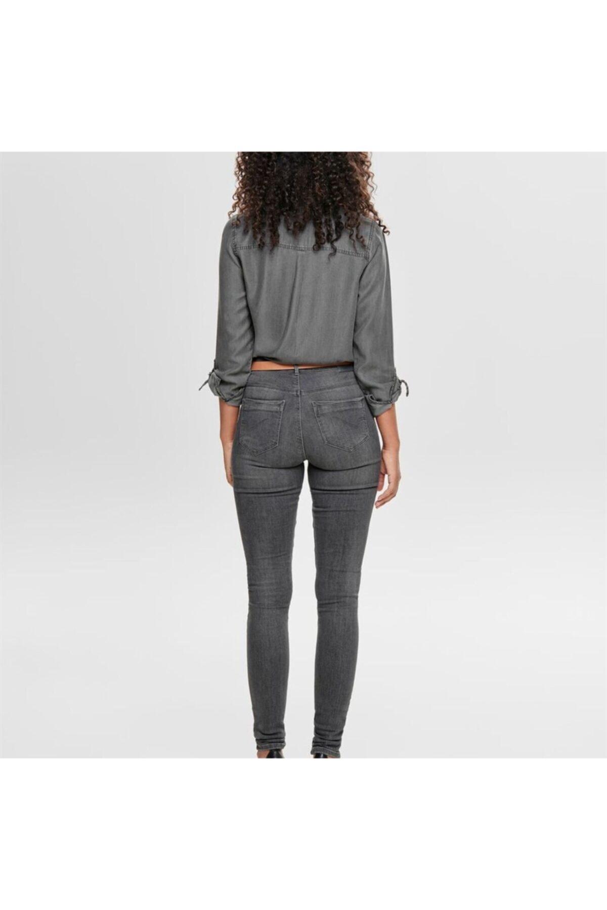 Only Kadın Gri Onlpaola Highwaist Sk Jeans - Bb Azz870 Noos 2