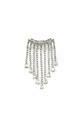 İpekyol Kadın Metalik Taş Püsküllü Broş  IW6200057008