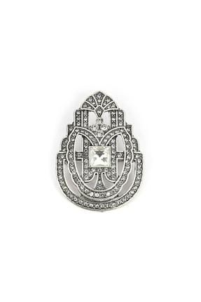 İpekyol Kadın Metalik Taş Dizgi Broş  IW6200057006