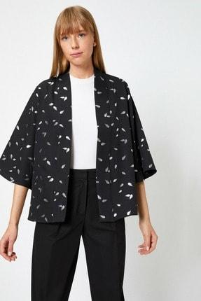 Koton Kadın Gümüş Desenli Kimono&Kaftan 0YAK58280CW