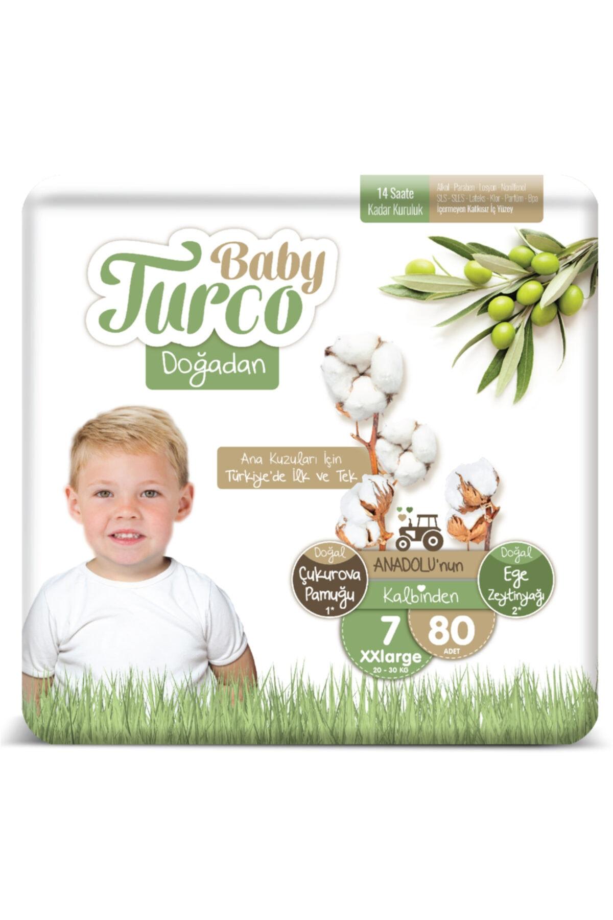Baby Turco Doğadan Bebek Bezi 7 Numara Xxlarge 80 Adet 1