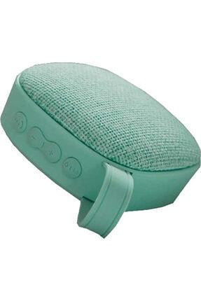 Piranha Açık Yeşil Renk Bluetooth Kablosuz Hoperlör Bt Wireless Speaker Kumaş Desenli Taşınabilir