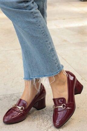 Mio Gusto Jamie Bordo Topuklu Ayakkabı