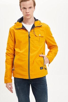 DeFacto Erkek Sarı Regular Fit Fermuarlı Mont M3062AZ.20SP.YL26