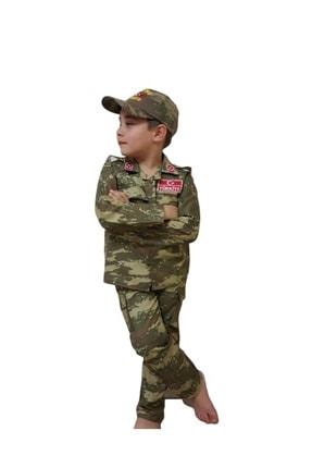 DEHAMODA 3 Parça Çocuk Asker Komando Kostümü