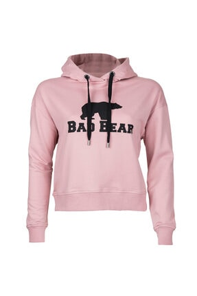 Bad Bear Kadın Pembe Crop Sweatshirt
