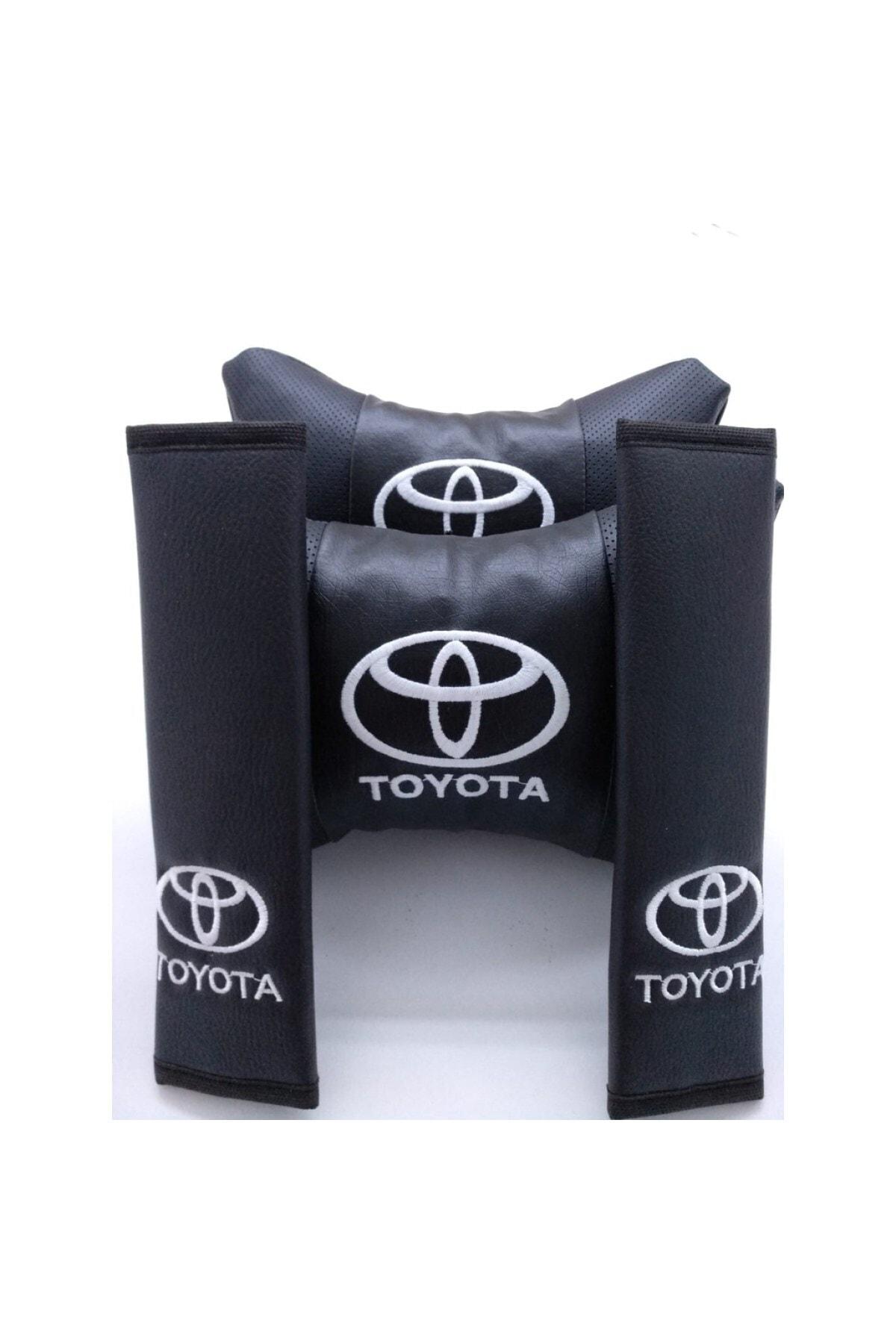 MOPS Toyota Corolla 2019 Ve Sonrası Lüks Deri Boyun Yastığı Ve Kemer Kılıfı 1