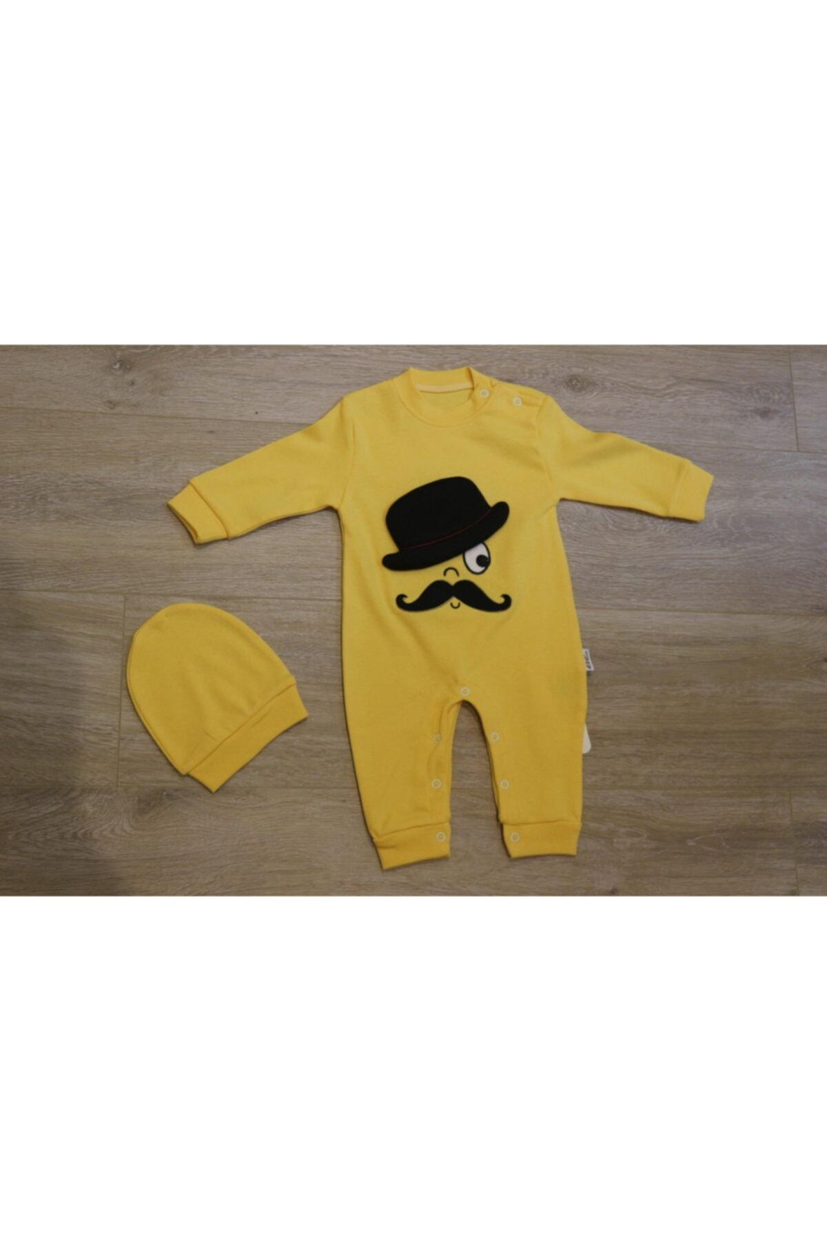 Atalay Çok Şık Şapkalı Amca Detaylı Bebek Takımı - Özel Koleksiyon - %100 Pamuk 1