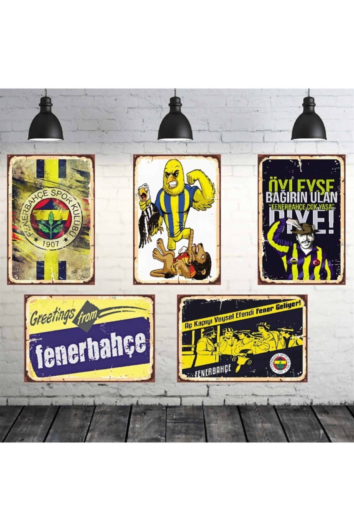 TAKIFİX Fenerbahçe Temalı 5 Adet 20-30 cm Mdf Tablo Seti 1