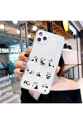 Mobildizayn Casper Via M3 Sevimli Panda Desenli Şeffaf Kılıf