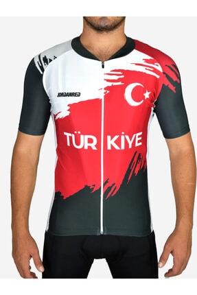 Jordanred Unisex Kırmızı Türkiye Bisiklet Forması