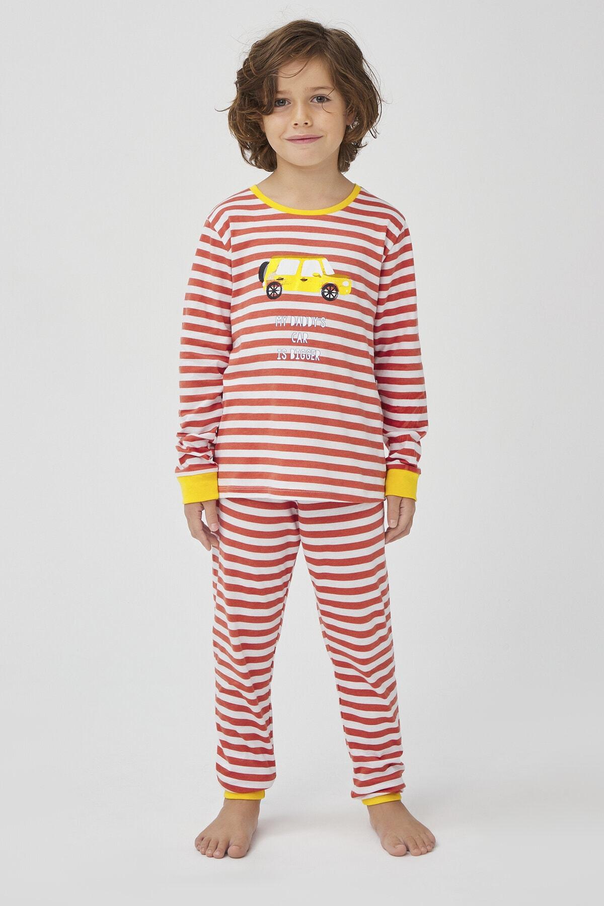 Penti Çok Renkli Erkek Çocuk Retro 4Lü Pijama Takımı