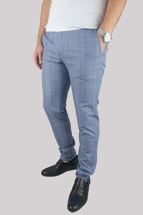 Mcr Erkek Mavi Slim Fit Pötikare Model Kumaş Pantolon