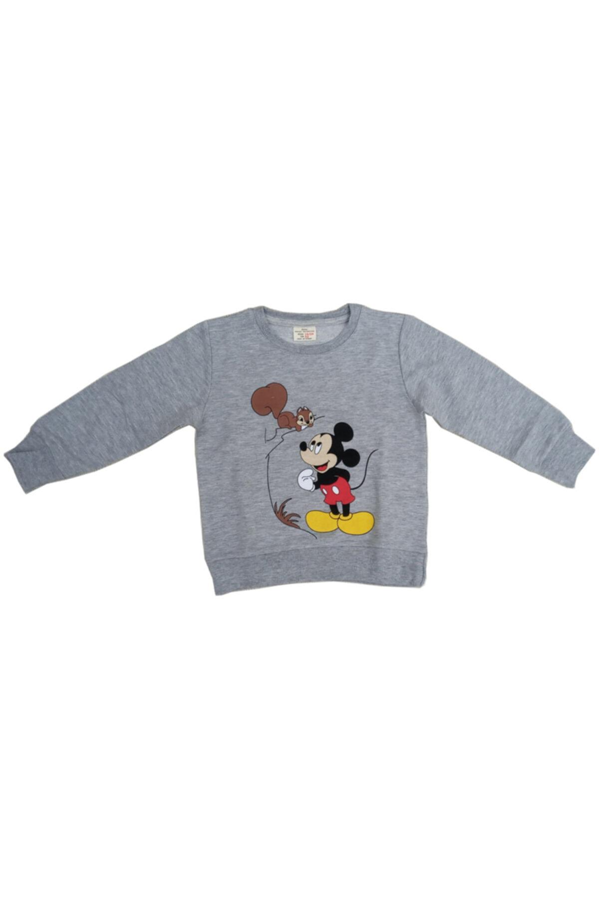 Disney Mickey Mouse Erkek Çocuk Gri Mickey Mouse Baskılı Takım 2