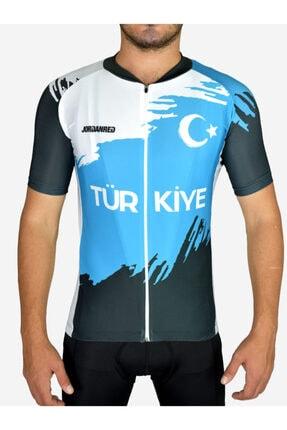 Jordanred Unisex Turkuaz Türkiye Bisiklet Forması Racing Fit