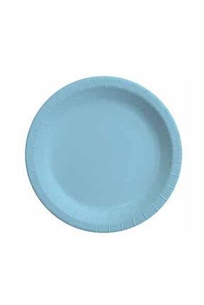 CİCİ Balon & Parti Açık Mavi Pastel Tabak 23 cm 8 Adet