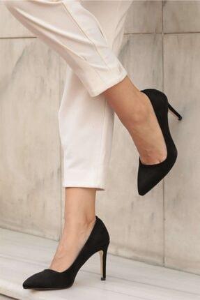 Mio Gusto Kadın Siyah Süet Stiletto