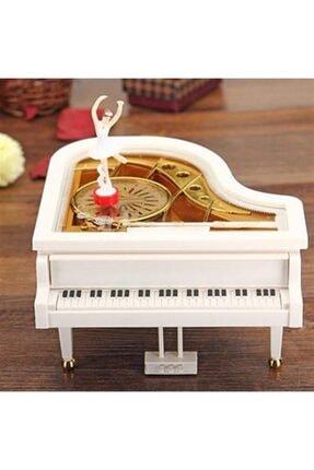 Techno phone Beyaz Dekoratif Piyano Görünümlü Müzik Kutusu