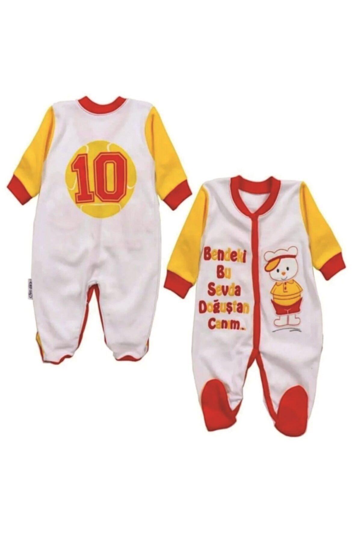 bebegen Bebek Renkli Gs Bendeki Bu Sevda Doğuştan Canım Ayaklı Tulum 1
