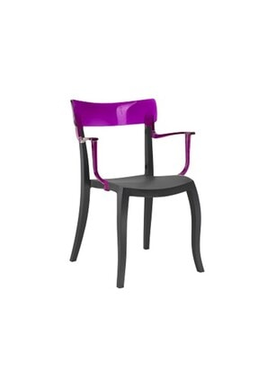 Papatya Mor Plastik Koltuk Sandalya