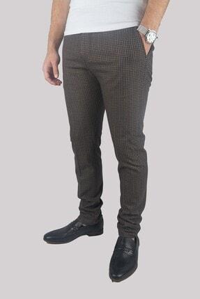 Mcr Erkek Kahverengi Super Slim Kumaş Pantolon 38765