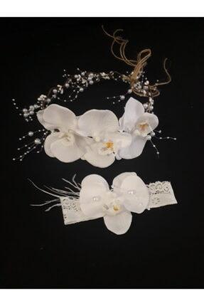 Lohusa Tasarım Beyaz Orkideli Lohusa Tasarım Taç