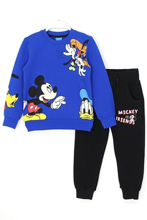 Mickey & Friends Erkek Çocuk Mavi Pluto Baskılı Eşofman Takımı 3 - 9 Yaş