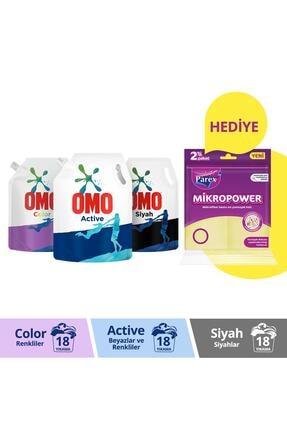 Omo Sıvı Çamaşır Deterjanı Pouch 1170 Ml Active + Color + Black