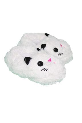 GEZER 3069 Sevimli Kedi Nakışlı Kız Ev Pandufu 30-40 Numara