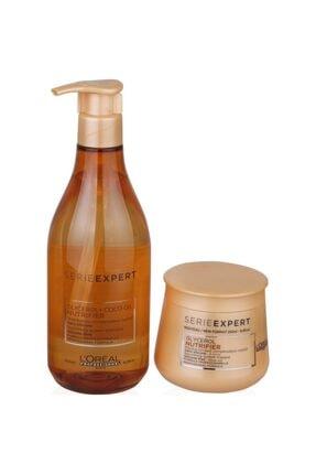 L'Oreal Paris L'oréal Professionnel Serie Expert Nutrifier Şampuan 500ml + Nutrifier Saç Maskesi 250 ml