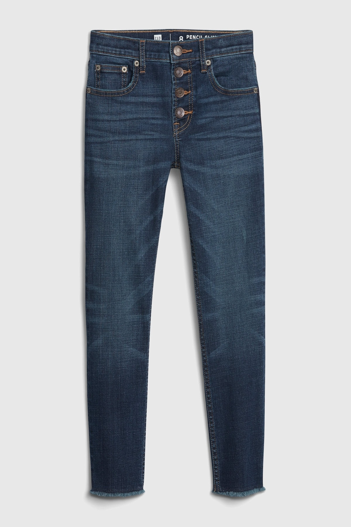 GAP Kids Kız Çocuk High Rise Slim Ankle Jean Pantolon 1