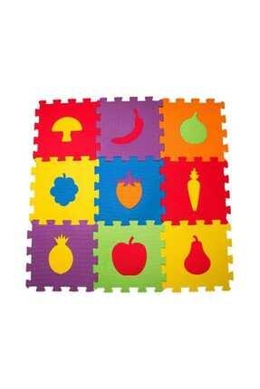 HAMİDİYE AMBALAJ Çocuk Oyun Karosu - Eva Puzzle Yer Matı - Meyve Sebzeler