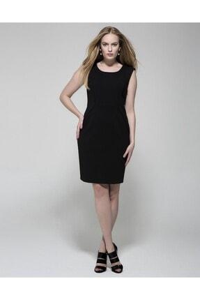 GEBE Kadın Siyah Kolsuz Elbise