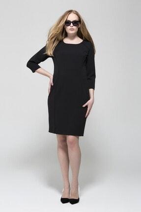 GEBE Kadın Siyah Uzun Kollu Elbise