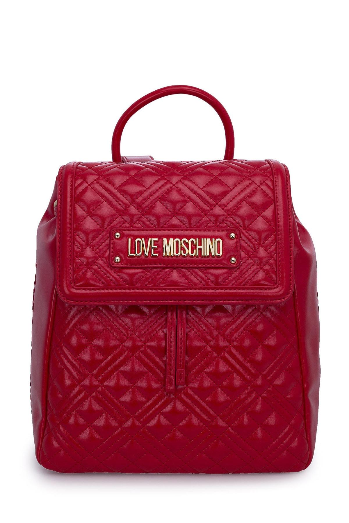 Love Moschino Kadın Kırmızı Logo Baskılı Ayarlanabilir Askılı Çanta Çanta Jc4012pp1bla0500 1