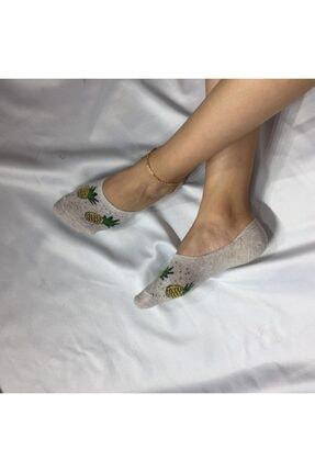 ADEL ÇORAP Kadın Gri Bambu Dikişsiz Silikonlu Babet Çorap
