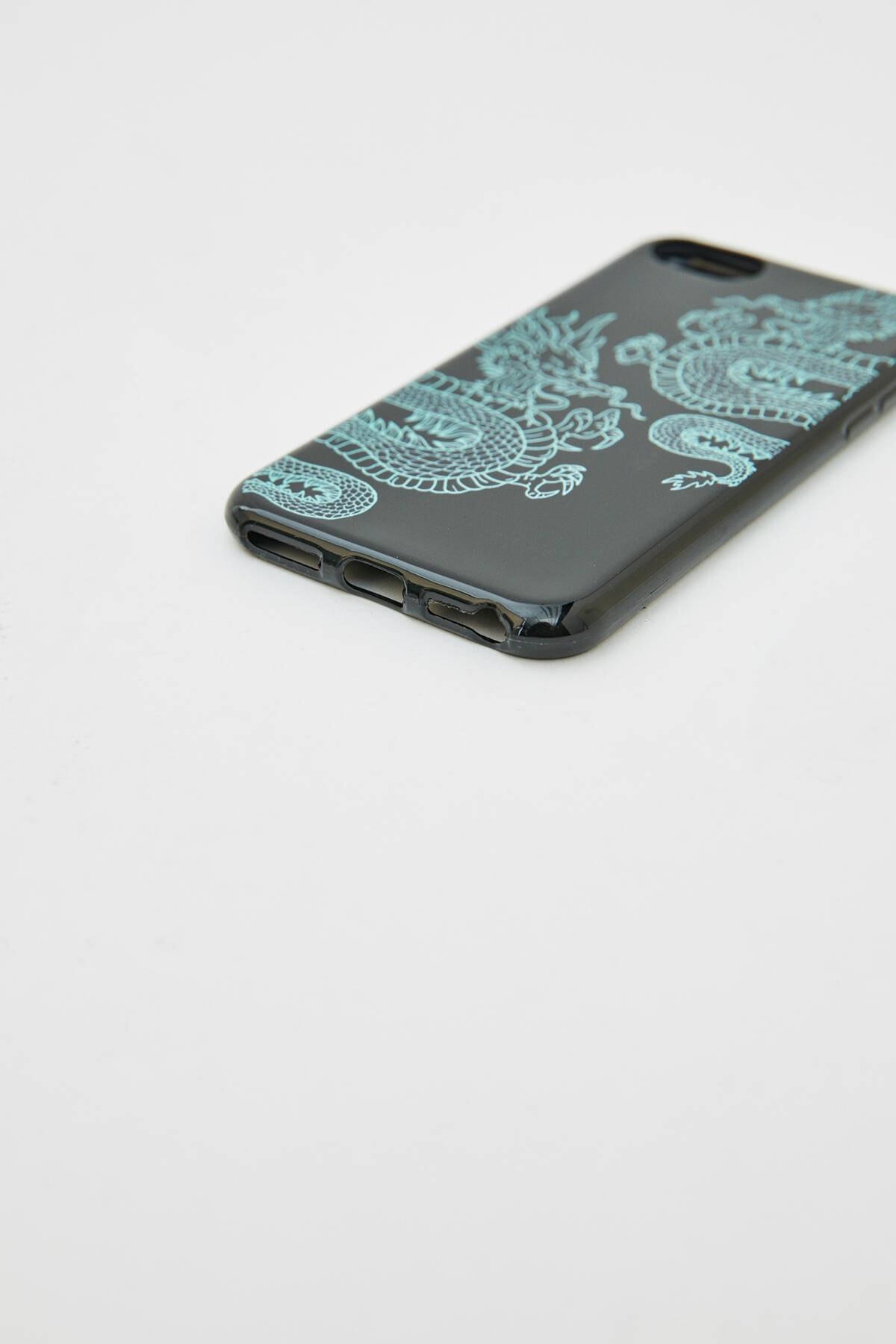 Pull & Bear Yeşil Ejderha Görselli Cep Telefonu Kılıfı 09971359 2