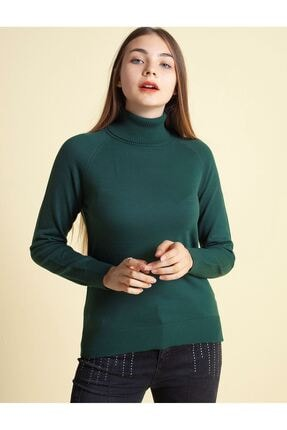 Fashion Friends 20k0401b1 Kadın Kazak Yeşil