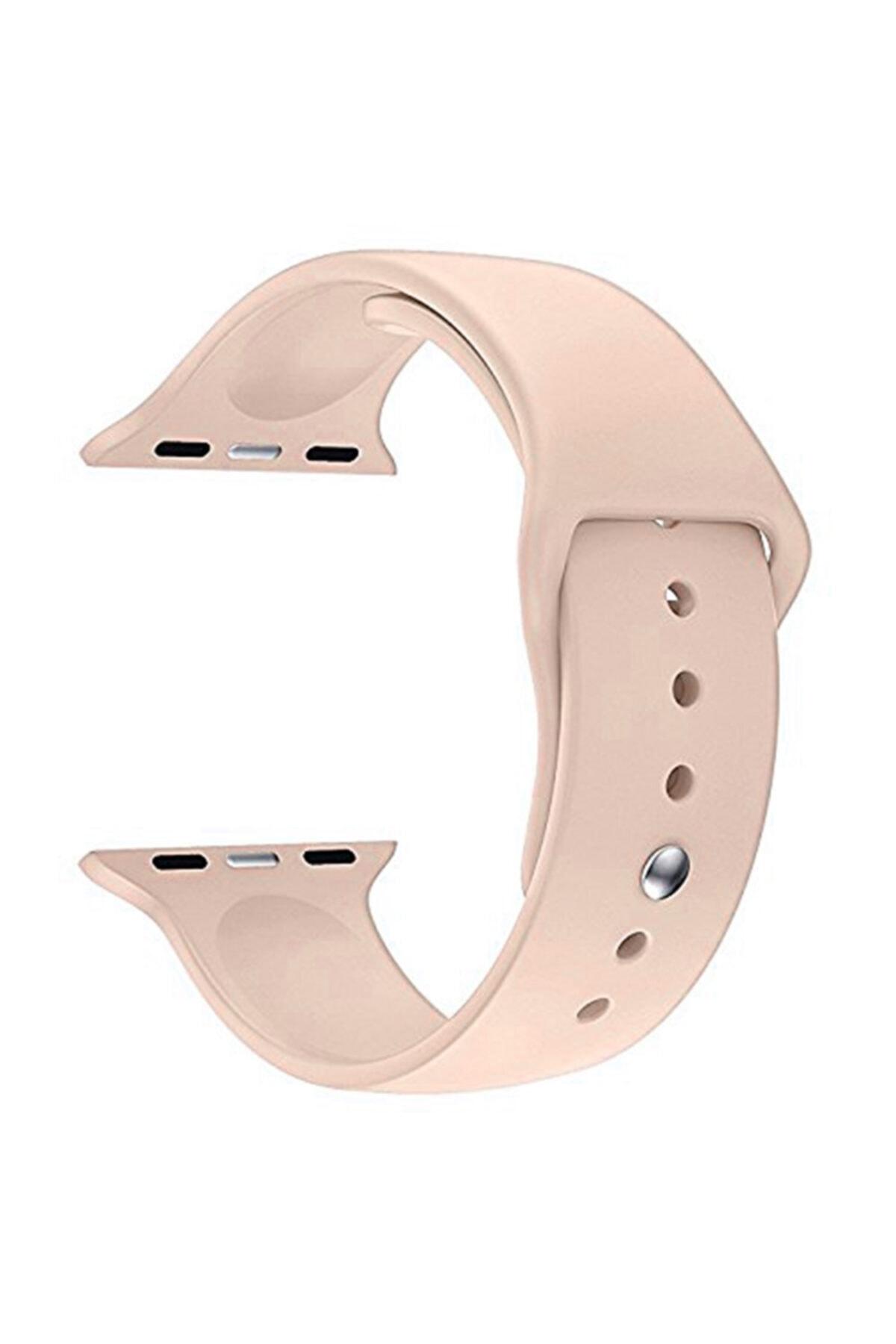 Microsonic Apple Watch Series 6 44mm Silikon Kordon Rose Gold 1
