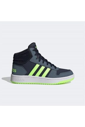adidas Erkek Siyah Yeşil Şerit Detaylı Bağcıklı Basketbol Ayakkabısı