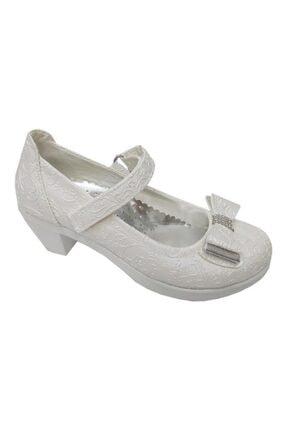 Akınal Bella Kız Çocuk Bej Klasik Topuklu Ayakkabı