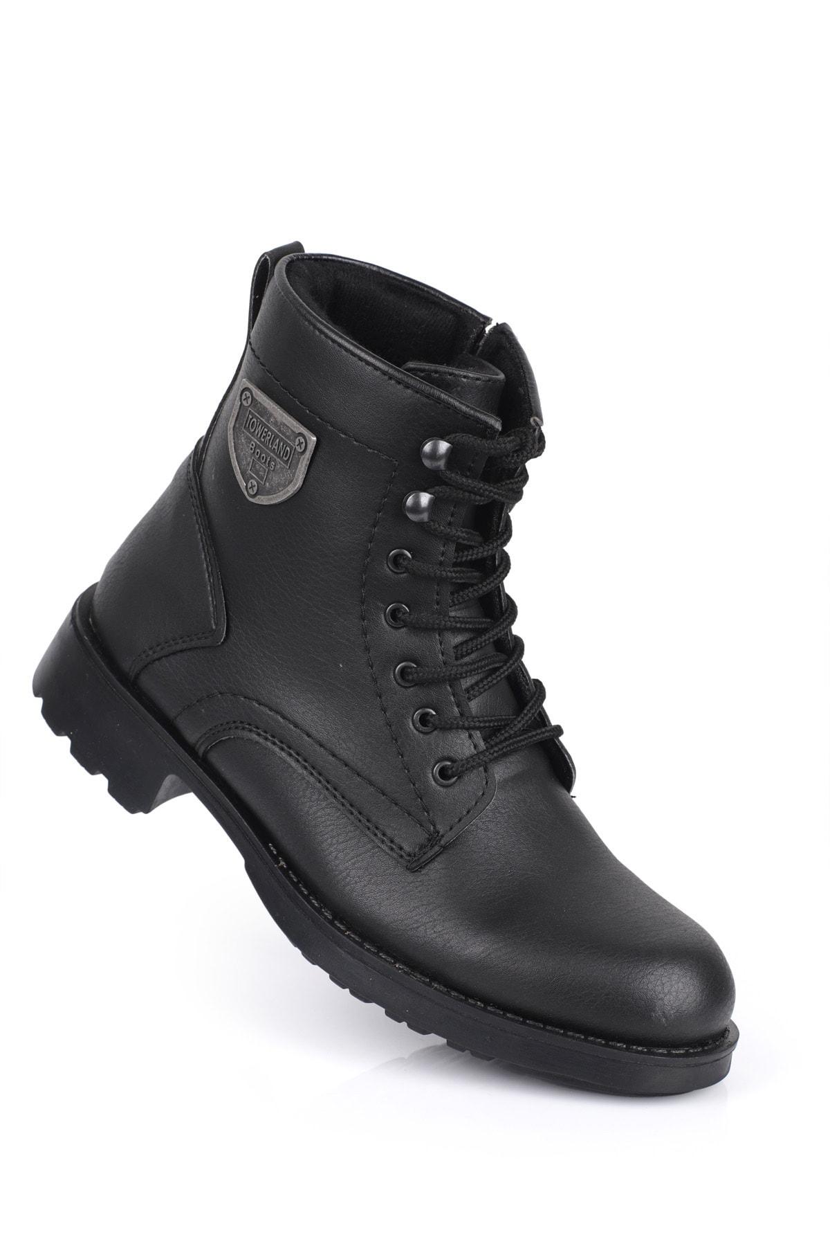 Daxtors Erkek Siyah Kışlık Kar Botu D00655 1