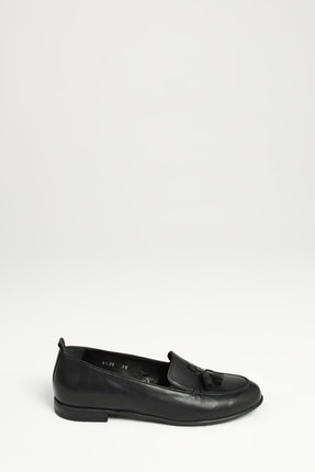 Ziya Kadın Siyah Hakiki Deri Ayakkabı 10319 4036