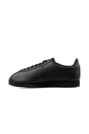 Nike Erkek Siyah Classic Cortez Leather Sneaker 749571-002