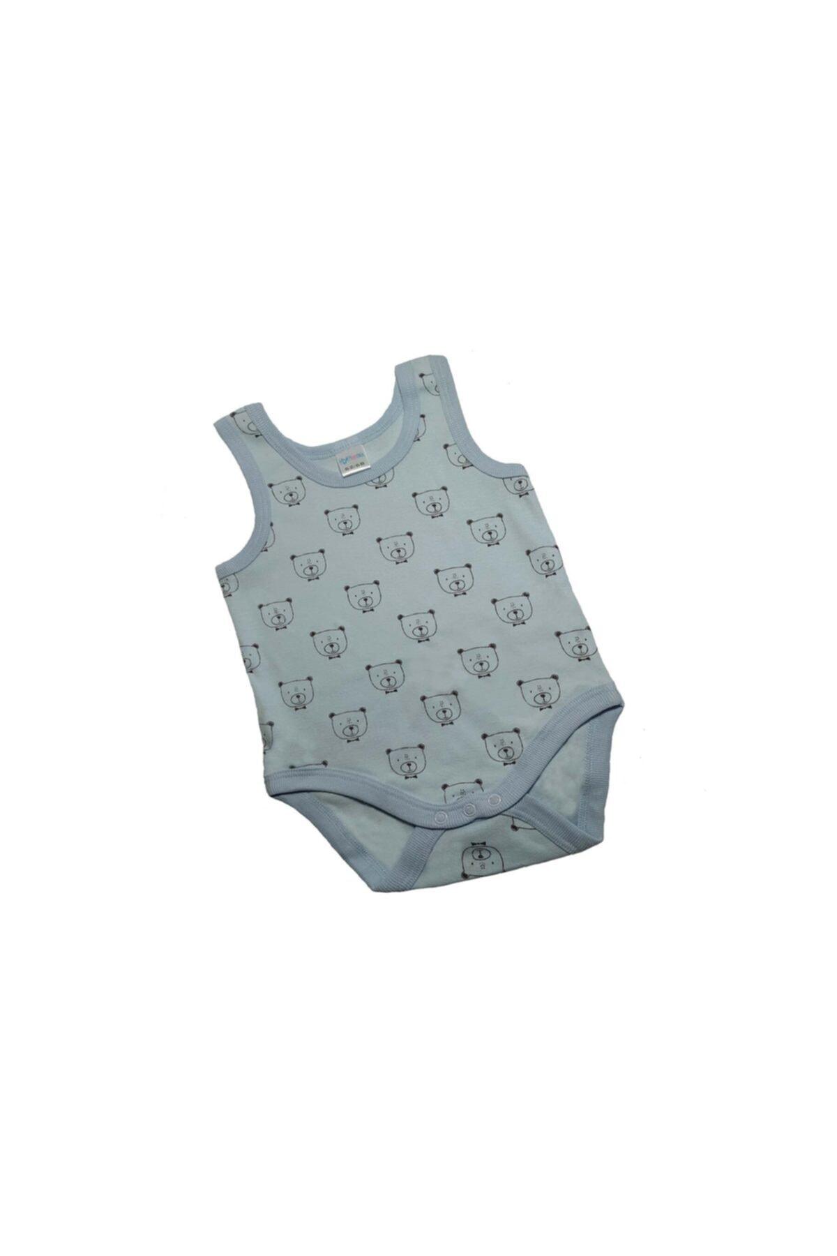 Tatu Kids Erlek Bebek Mavi Çıtçıtlı Body 1
