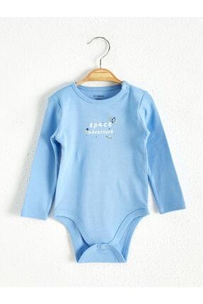 LC Waikiki Erkek Çocuk Mavi Gjy Bebek Body & Zıbın
