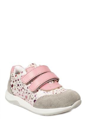 Toddler Kız Çocuk Gri Çift Cırt Ayakkabı 6098 B