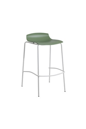 Papatya X-treme Bss Pro Bar Sandalyesi Otel Kafe Restoran Mutfak Yeşil - Beyaz